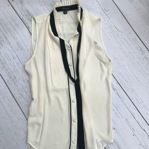Ann Taylor tieneck sleeveless blouse